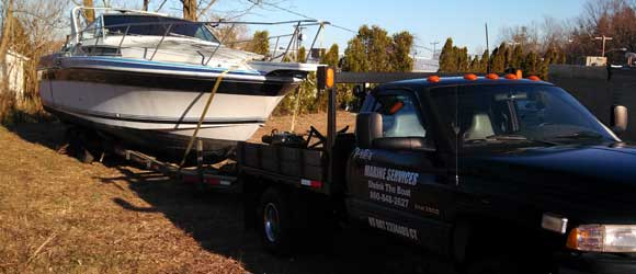 Hauling a boat in CT